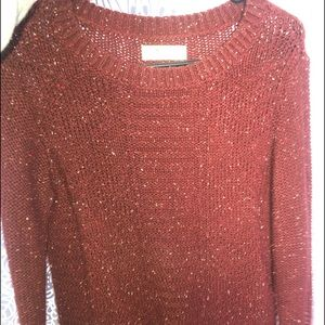 Speckled maroon sweater